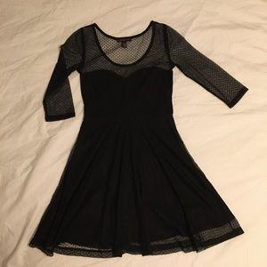 Sheer Polka dot Skater dress